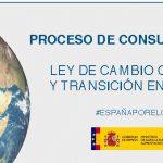 Oberta la consulta pública per la Llei de Canvi Climàtic i Transició Energètica