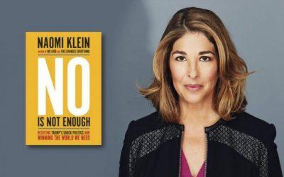 La periodista Naomi Klein y su nuevo libro «Decir NO no es suficiente»