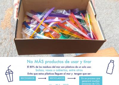 Reutilizar los cubiertos de plástico