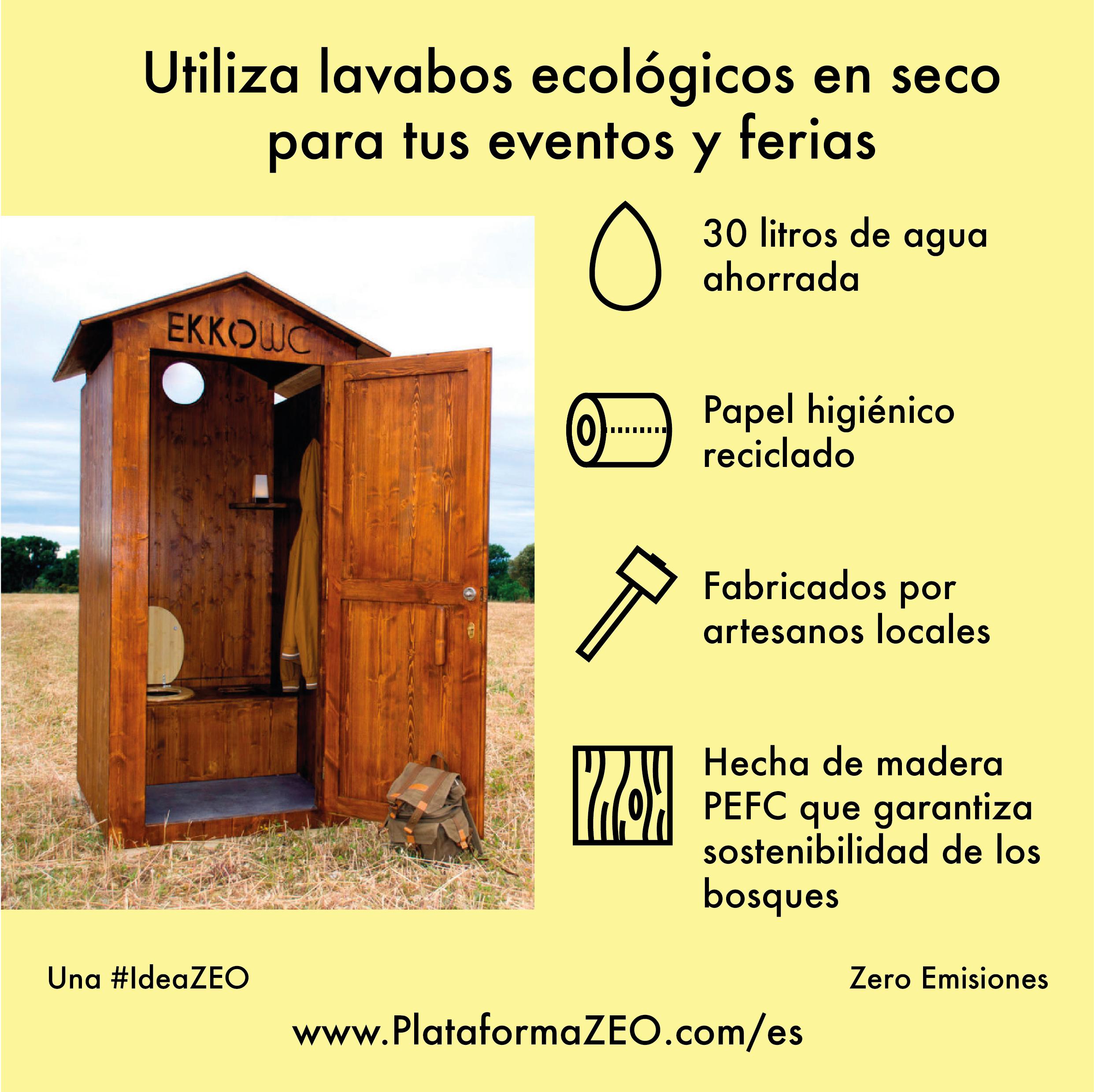 Utiliza lavabos ecològics en sec per als teus esdeveniments i fires