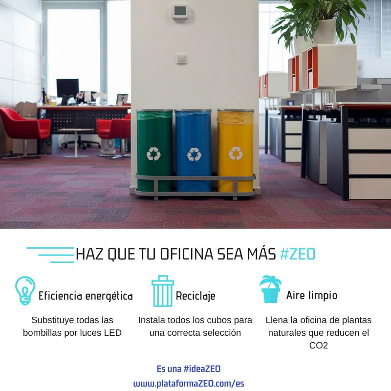L'eficiència energètica, el reciclatge o una bona circulació de l'aire són mecanismes per aconseguir una oficina verda