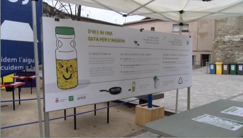Rubí impulsa el reciclatge d'oli usat: Reduïm els residus perillosos
