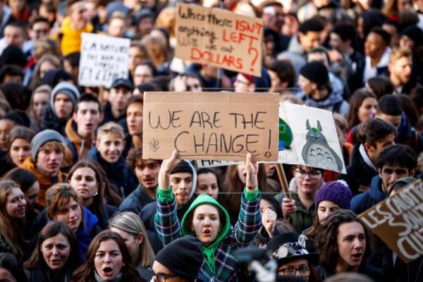 Arriba la primera manifestació de Joventut pel Clima a Barcelona