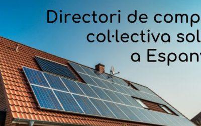 Directori de compra col·lectiva de plaques solars a Espanya