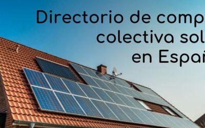 Directorio de compra colectiva de placas solares en España
