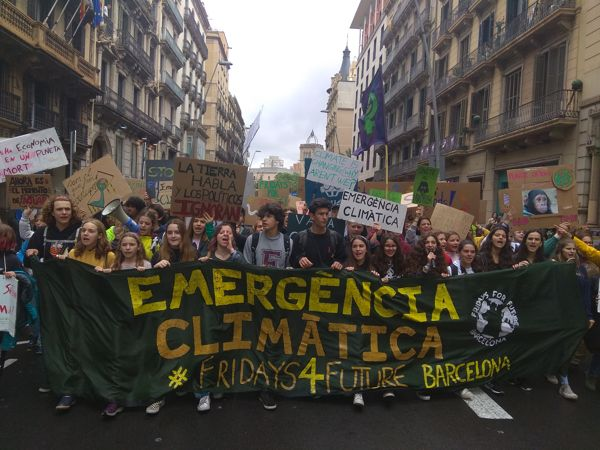 FOTOS: 2ª Vaga Internacional de Fridays For Future a Barcelona