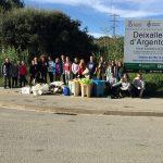 PlataformaZEOrecoge 263 kilos de basura en Argentona