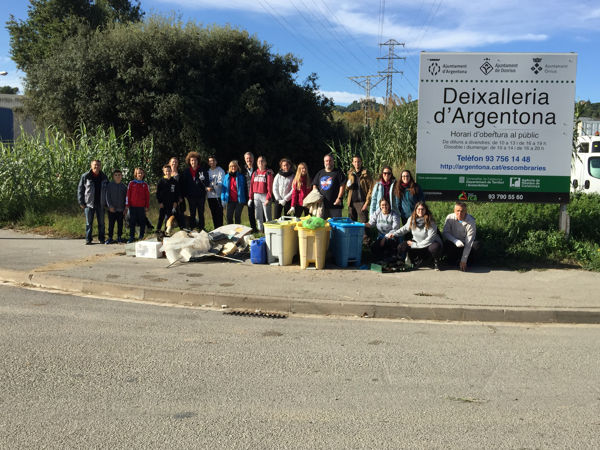 PlataformaZEO recull 263 quilos d'escombraries a Argentona
