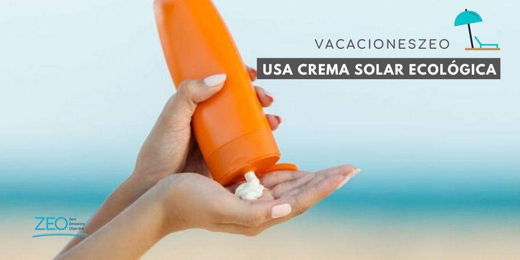 Crema solar ecológica