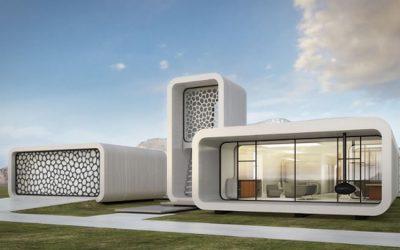 Casas bioclimáticas construidas con impresora 3D