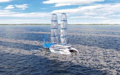 Manta, Un vaixell que captura residus de la mar